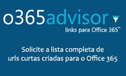Diversos links para o Office 365